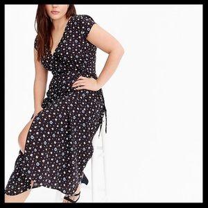 J. Crew Mercantile Easy Wrap Dress in Daisies
